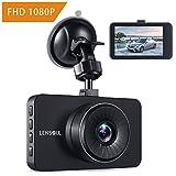 LENSOUL 1080P Dashcam Full HD AutoKamera mit 170° Weitwinkelobjektiv 12MP 3 Zoll IPS Bildschirm Car Recorder DVR G-Sensor Nachtsicht WDR Bewegungserkennung Loop Aufnahme Parkmonitor