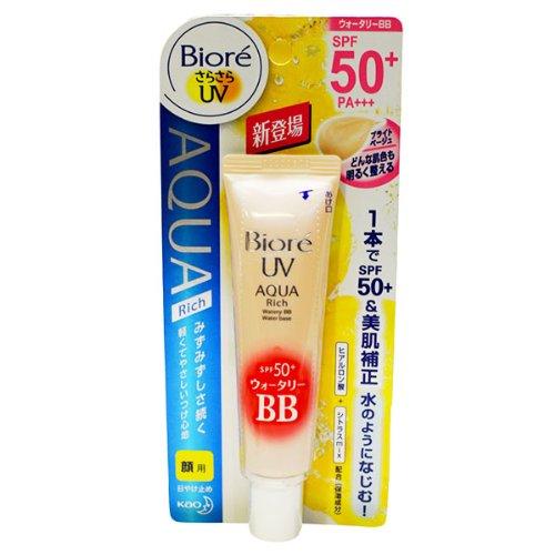 BestOfferBuy - Crème Ecran Kao Biore Uv Aqua Rich Watery Spf50+ Pa+++ 33G Beige Brillant Japon