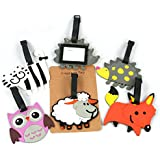 Fun Wildlife Rubber Luggage Tag Travelling (cat)