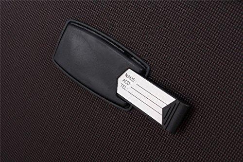 BEIBYE 4 Rollen Reisekoffer 3tlg.Stoffkoffer Handgepäck Kindergepäck Gepäck Koffer Trolley Set-XL-L-M (Coffee, M-Handgepäck-54cm) - 3