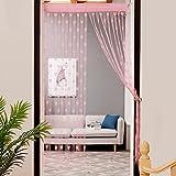 Hukz 50x200 cm Liebe Herz String Vorhang Fenster Tür Teiler Sheer Vorhang Valance (pink)