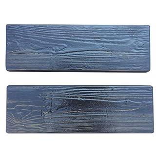 B Blesiya 2 Piezas Piedra de Pavimento Molde de Placa de Madera para Piso Jardín, Decoración de Suelo Estilo Motosierras, Material para Albañil