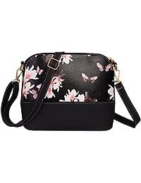 BESTVECH Women Printing Shoulder Bag PU Leather Purse Satchel Messenger Bag