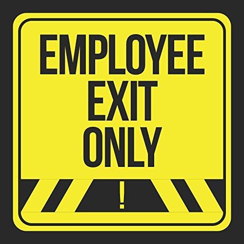 Mitarbeiter Exit nur schwarz drucken gelb Street Hinweis Road Business Büro Schilder Commercial Kunststoff 12x 12Schild