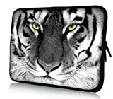 Luxburg® Design Laptoptasche Notebooktasche Tablet PC eBook Reader Tasche bis 8,1 Zoll, Motiv: Tigeraugen