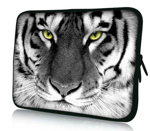 Luxburg® Design Laptoptasche Notebooktasche Sleeve für 13,3 Zoll (auch in 10,2 Zoll | 12,1 Zoll | 13,3 Zoll | 14,2 Zoll | 15,6 Zoll | 17,3 Zoll) , Motiv: Tigeraugen