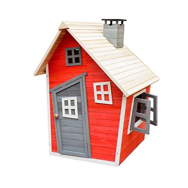 Caseta juegos niños infantil de madera casita para jardín ...