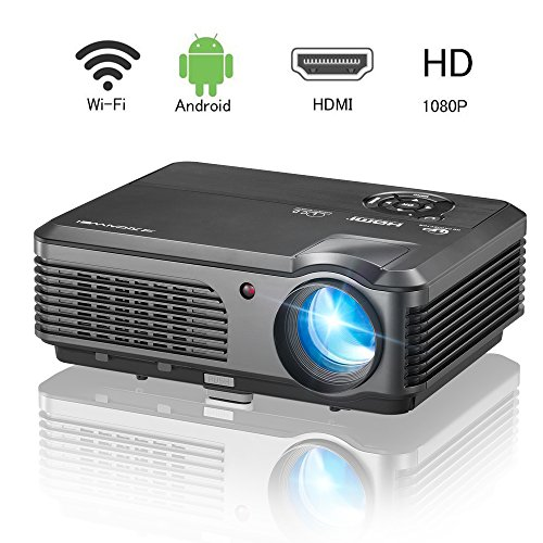 Smart Android Wireless HD Projector- 1280x800 Native 3200 Lumen HDMI & WiFi...