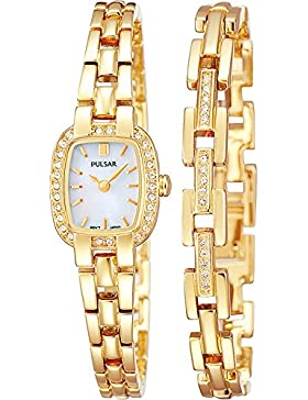 Pulsar PEGG42X2 Ladies' Gold Plated Crystal Encrusted Watch