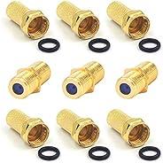 مجموعة VCE Combos 3X مطلية بالذهب F-Type RG6 كابل توصيل متحد المحور أنثى إلى أنثى 3 جيجاهيرتز و6 X F نوع RG6 7