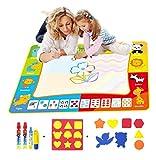 BENGO Aqua Malmatte Wasser XXL Color 120x90CM,Doodle Matte für Kinder Doodle Spiel 4 Doodle Zusatzstift mit Stempelset