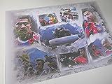 VERSCHIEDENE FC BAYERN-STARS UND ALLIANZ-ARENA als Kunstdruck -direkt vom Künstler 30cm x 42cm