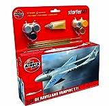 Airfix De Havilland Vampire Tii Airplane Building Gift Set, 1:72 Scale