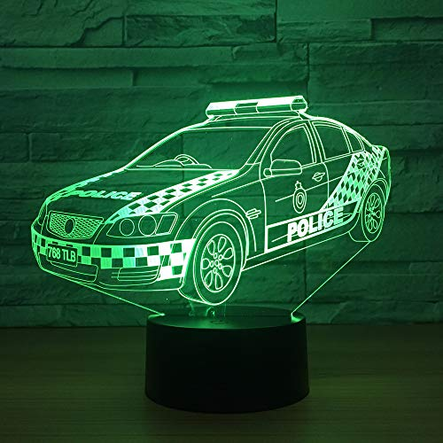 3D Nachtlicht Sportwagen bunte visuelle Stereo-LED 3D Licht Acryl Licht Fernbedienung Touch visuelle Atmosphäre Licht Kinder Geschenk Brille ## 5