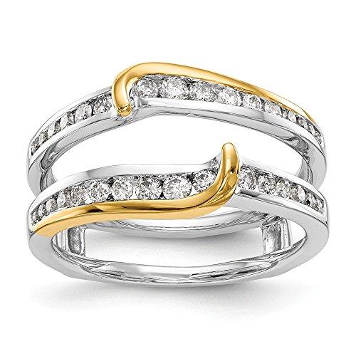 Ring Guard Enhancer 14 K Gelb- und Weißgold Diamant (0,492 Karat) -
