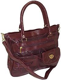 Damen Patchwork Handtasche Vintage Tasche mit zusätzlichem verlängerbaren Henkel Henkeltasche Shopper Schultertasche Umhängetasche DH0001