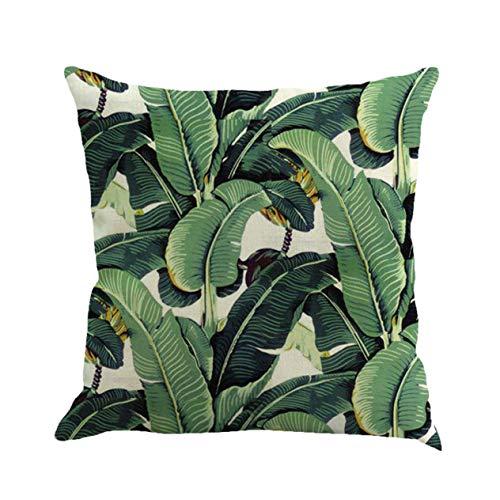 EdBerk74 Moda di Alta qualità in Lino di Cotone Africa Tropicale pianta Foglia di Banana Decorativa copriletto copridivano Divano Arredamento per la casa