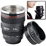 PETRICE Camera Lens Mug With ,Stainless Steel Travel Thermos Camera Lens Coffee Tea Cup Mug Coffee Cup