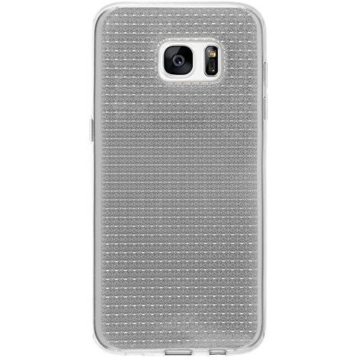PhoneNatic Case für Samsung Galaxy S7 Edge Hülle Silikon hellblau Iced Cover Galaxy S7 Edge Tasche Case Transparent