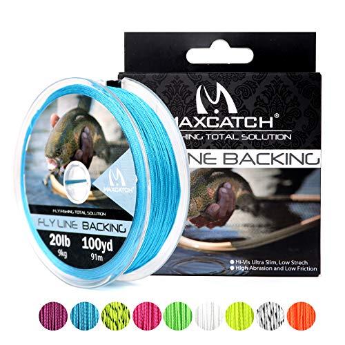 Maximumcatch Fliegenschnüre Backing Fliegenfischen Geflochtene Schnüre 20/30lb,100/300yards (Blau, 20lb,100yards) -