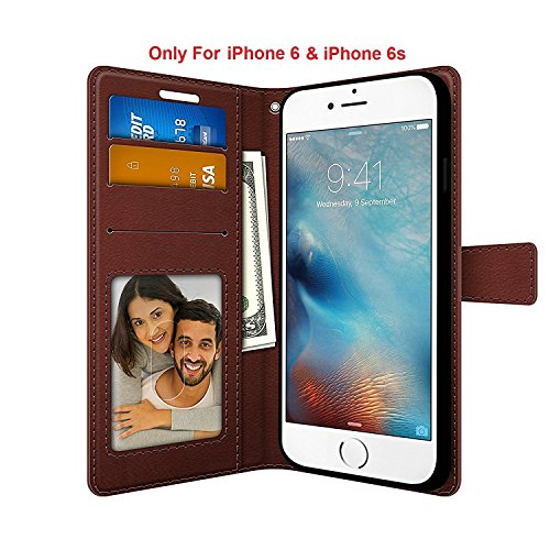 Foso for iPhone 6 / 6S FOSO(TM) High Quality PU Leather Magnetic Flip Cover Case (Royal Brown)