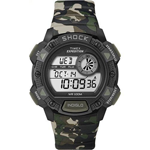 Timex-T49976-Orologio-da-Polso-Quadrante-Digitale-da-Uomo-Cinturino-in-Resina-Multicolore