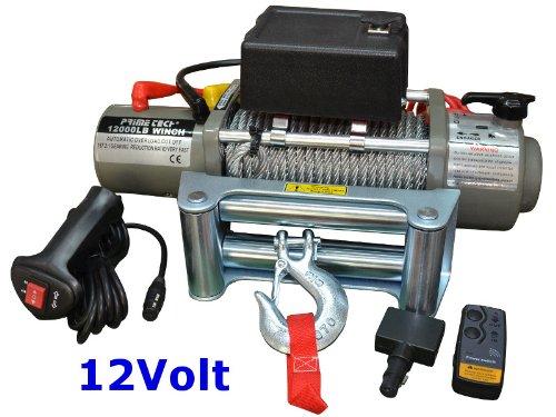Prime Tech Elektrische Marken-Seilwinde 12Volt 12000 lb / 5440 kg/Modell WF12 mit Seilgeschw. in Highspeed / 12V