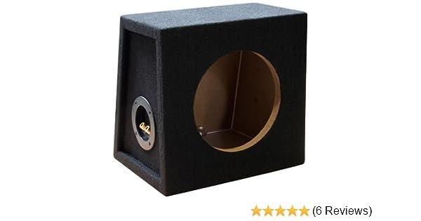 20cm Basslautsprecher mit Bassreflex Port Necom 0808.1Air Bandpass Leergeh/äuse f/ür 8