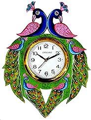 CAPIO ART Wood Wall Clock (13 x 16 inch, Multicolour)