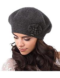 Kamea Pesaro Dame Baskenmütze Kopfbedeckung Herbst Winter