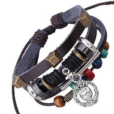 Nuovo cuoio braccialetto in rilievo - Sterling D'oro In Rilievo Bracciali