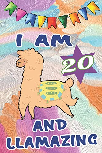 g: Happy 20th Birthday Gift Notebook: Cute Llama Journal ~ Beautiful Paint Cover ()