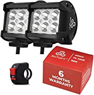 Autofy LED Bar Light Universal Bike Car Fog Light - 6 MONTHS WARRANTY - Work Light LED Bar Light for Off Roadi