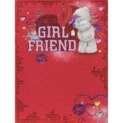 Me To You Me to You Tatty Teddybär - große Valentinstag-Karte - Girlfriend