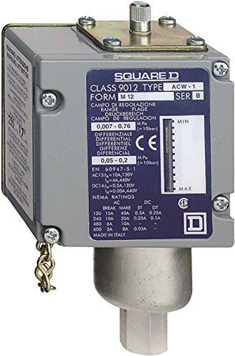 Schneider ACW8M129012 ACW Druckschalter, 12 Bar, einstellbare Hysterese, 2 Schaltpunkte, 1Ö/1S