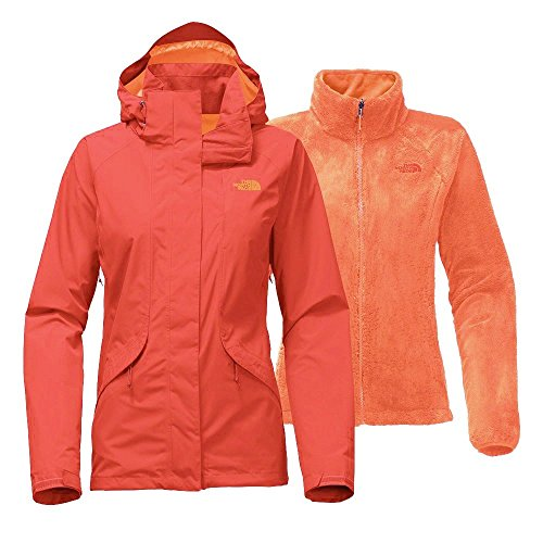 The North Face Women's Boundary Triclimate Jacket - Fire Brick Red - S (Past Season) Womens Boundary Triclimate Jacket
