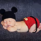 Demarkt Bebé recién nacido punto de ganchillo traje Photo apoyo de la fotografía muchachos de las niñas de ropa Trajes de Fotografia y Accesorios