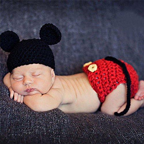 Demarkt Bebé recién nacido punto de ganchillo traje Photo apoyo de la...