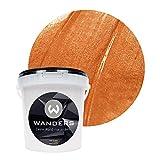 Wanders24 Metall-Optik (1 Liter, Bronze) Wandfarbe zum Spachteln im Metallic Look, individuelle Gestaltung für Zuhause, Farbe Made in Germany
