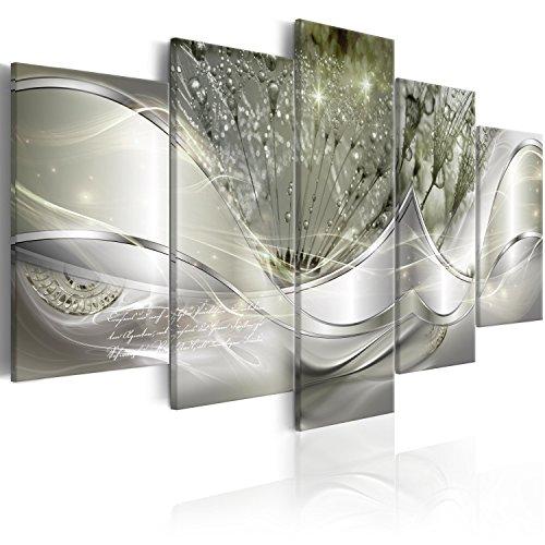 Murando - Cuadro Lienzo Abstracto Flores 200x100 cm