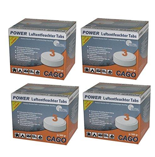 """Preisvergleich Produktbild Cago 4x Luftentfeuchter Tabs """"neutral"""" im 3er Set"""