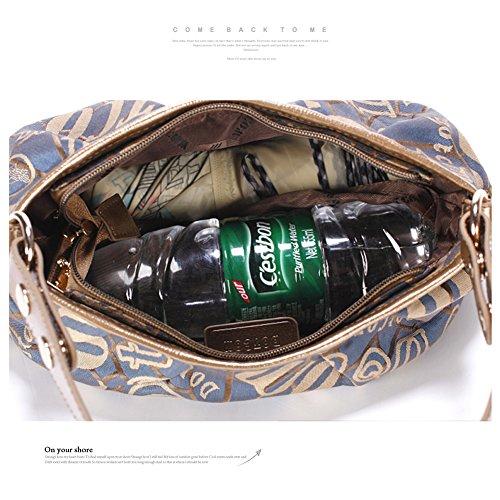 Borse mini Yoome per i sacchetti di tela delle ragazze i nuovi sacchetti eleganti viaggiano i piccoli sacchetti di tela per le donne - azzurro caffè