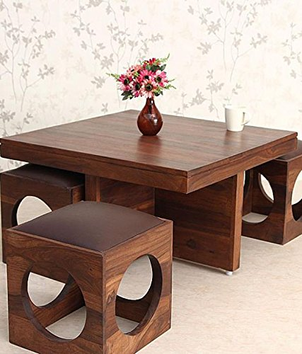 Woodkartindia Solid Wood Coffee Table For Home Furniture And Living Room  Furniture