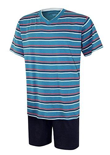 Herren Schlafanzug kurz Herren Pyjama kurz Herren Shorty Schlafanzug aus 100% Baumwolle Gr XL/54