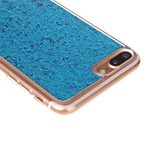 Cuitan TPU Glitter Housse Case pour Apple iPhone 7 (4,7 Inch), Bling Shiny Retour Housse Back Cover Protecteur Etui Coque Cover Shell pour iPhone 7 (4,7 Inch) - Rose Rouge Bleu