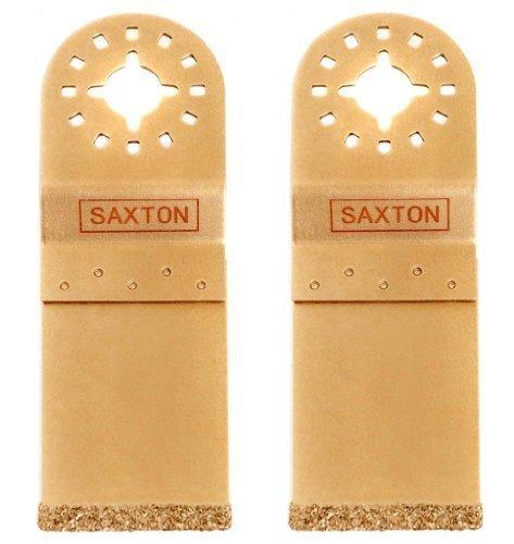 2x Saxton 35mm Hartmetall Ende geschnitten Klinge fein MultiMaster Bosch Makita Pendelndes Multitool