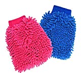 #3: Divine Gifts Double Sided Microfiber Car Window & Kitchen Dust Cleaning Gloves (2 Pcs Random Color)