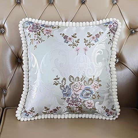 MZMZ-stile Europeo divano cuscini cuscino posteriore auto tessuto ricamato federe,luce blu,con core - Loving Abbraccio