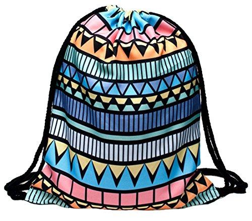 Kukubird Verschiedene Print Einfach Rucksack Mit Kukubird Staubbeutel Aztec Niebieski