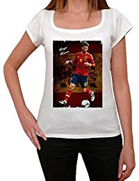 Sergio Ramos 4 T-shirt Femme,Blanc, t shirt femme,cadeau
